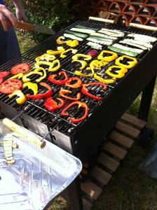 griglia con verdure