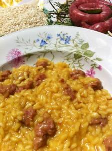 risotto giallo con salsiccia