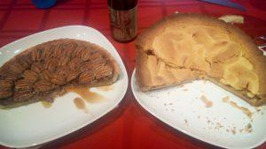 Apple pie and pecan pie